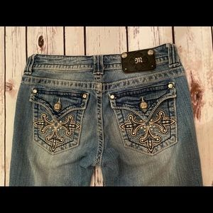 Miss Me Jeans boot cut 29 JP5335B fleur lis